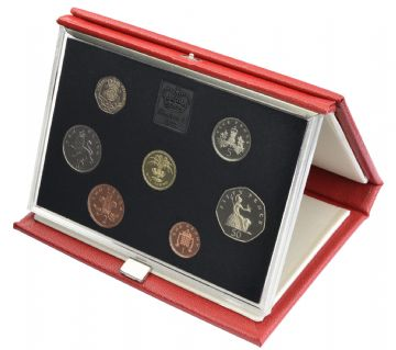 1985 Proof set red Leather deluxe